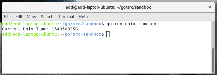 Get the Current Unix Time · GolangCode