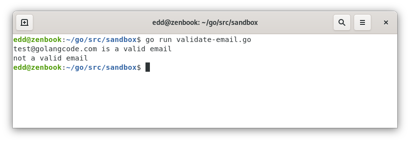 check email is valid using regex
